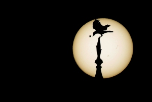Photo of the Transit of Venus over the Taj Mahal