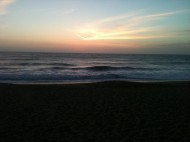 Sunset as I waited for my meal at Phil's Fish Market, Moss Landing, CA
