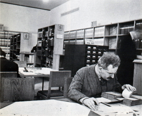 Walter Benjamin at a Paris Library