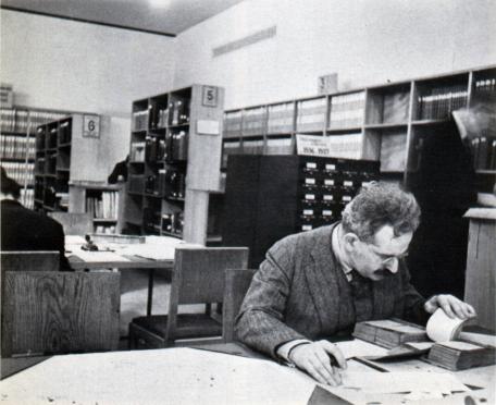 Walter Benjamin at a Paris Library