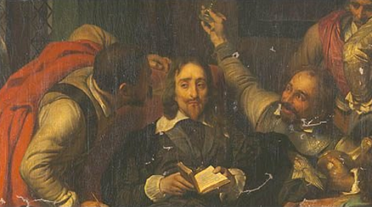 Charles I Insulted by Cromwell's Soliders by Delaroche