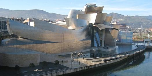 The Guggenheim Museum in Bilbao Spain. Photograph taken by User:MykReeve on 14 January, 2005.
