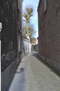 "The alley ways (through which Colin Farrell wanders in the dude flick ""In Bruges""--sample dialogue: Ken: [preparing to climb the bell tower]: Coming up? Ray: What's up there? Ken: The view. Ray: The view of what? The view of down here? I can see that from down here. Ken: Ray, you are about the worst tourist in the whole world. Ray: Ken, I grew up in Dublin. I love Dublin. If I grew up on a farm, and was retarded, Bruges might impress me but I didn't, so it doesn't."