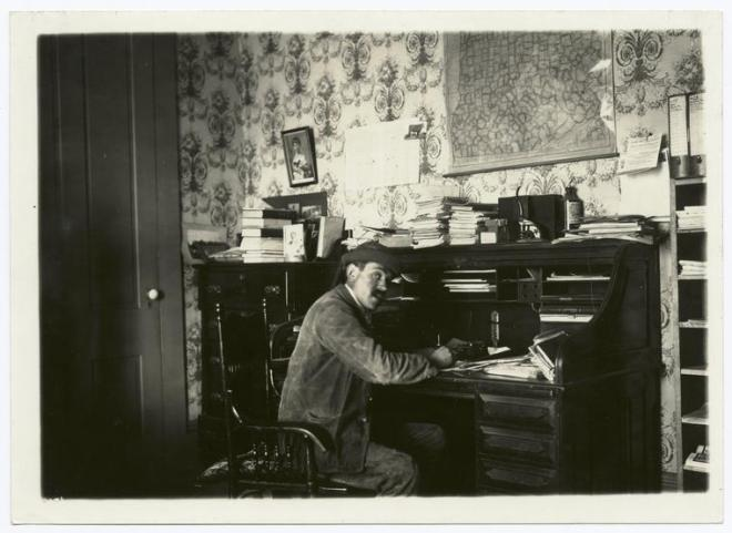 writer at desk