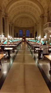 "As a contrast, here is the main reading room, Bates Hall, in the old building. I try to be as open to library 2.0 and beyond as anybody. Still if you say, ""reading room"" to me and this is what is elicited. Even though what I mostly have done here over the years is write."